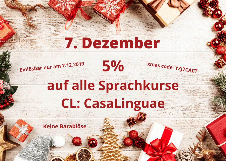 Adventkalender - 7. Türchen - 5% alle Sprachkurse